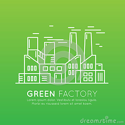 Web Design Template with thin line icons of environment, renewable energy, sustainable technology, recycling, ecology solutions, e Vector Illustration