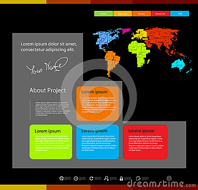Web design template wi