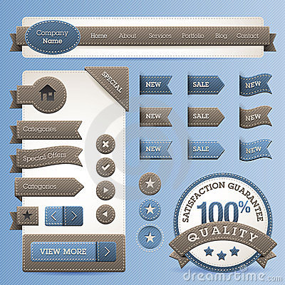 Web design vector elements