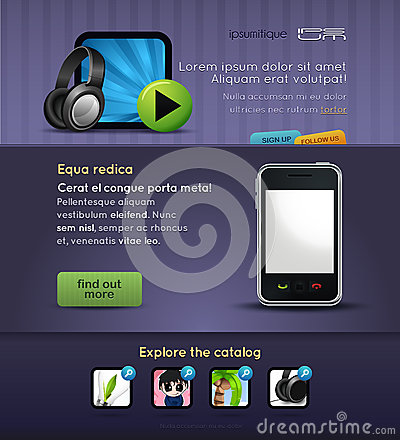 Web design vector page