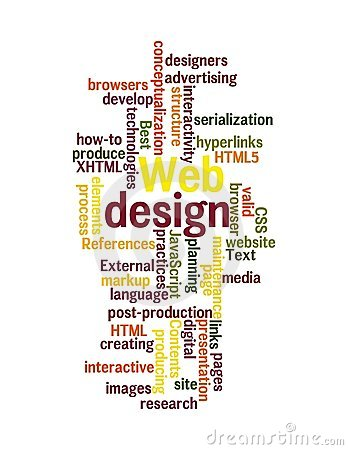 Web Design Word Cloud Isolated Royalty Free Stock Photos - Image: 23468948