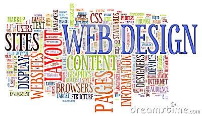 Web design word tags