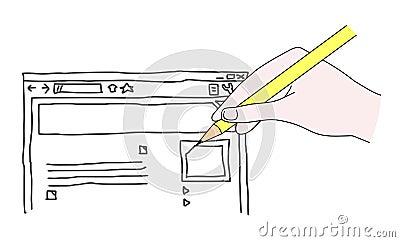 Web draw
