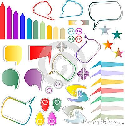 Web elements design scrapbook set