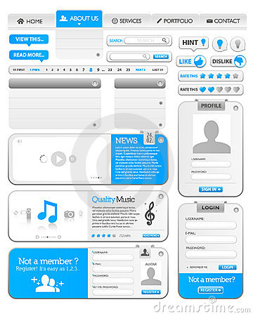 Web elements template 1