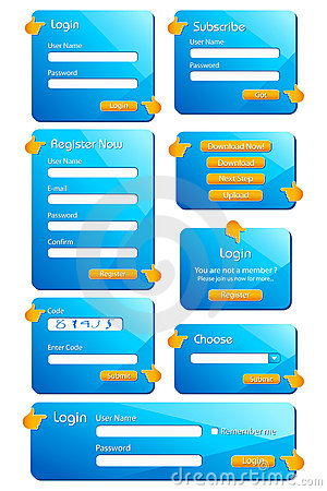 Web Form Template Stock Photography - Image: 18560302