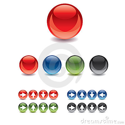 Free Web Gel/Glass Buttons Royalty Free Stock Photography - 13507997