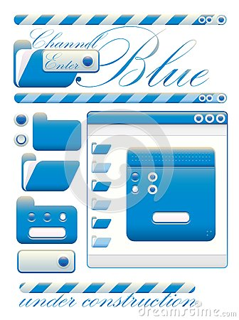 Web graphic interface blue channel