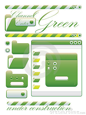 Free Web Graphic Interface Green Channel Royalty Free Stock Image - 10160236
