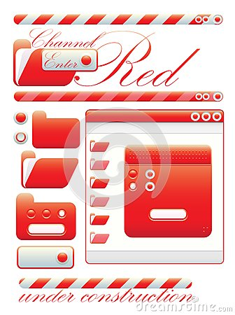 Web graphic interface red channel