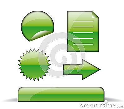 Web green icons