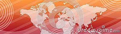 Web header / banner world map