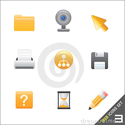 Free Web Icon 3 Vector Royalty Free Stock Photo - 4892235