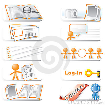 Web icon clip art collection