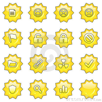 Web icon set 2  (16 star butto