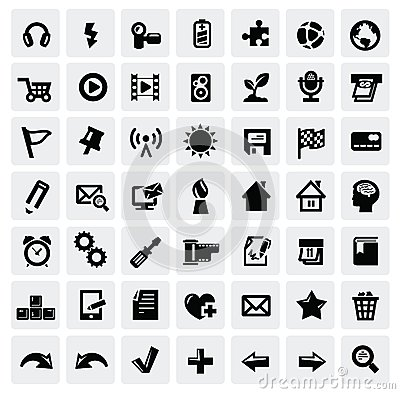 Free Web Icon Set Stock Image - 28046681