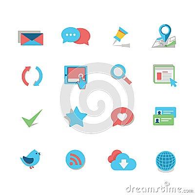 Free Web Icon Set Royalty Free Stock Photo - 34617065