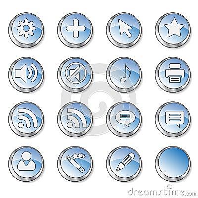 Web icon set 4  (16 black butt Editorial Image