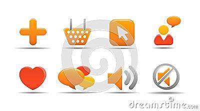 Web icon set 5   Pumpkin serie