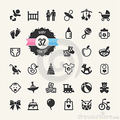 Free Web Icon Set. Baby Stock Images - 35612594
