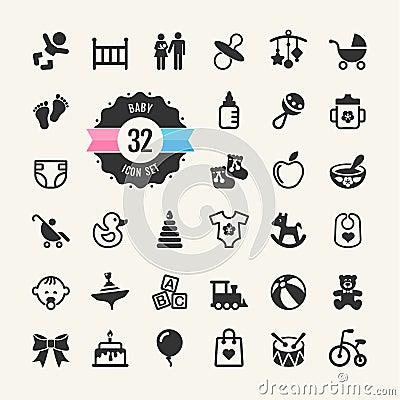 Free Web Icon Set. Baby Stock Images - 35612594