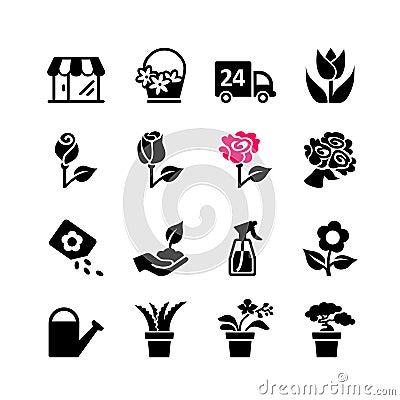 Free Web Icon Set - Flower Shop Stock Photography - 34486672