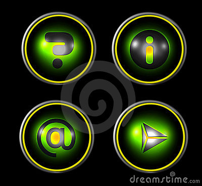 Web icon set - green
