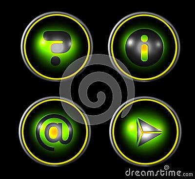 Web icon set - green