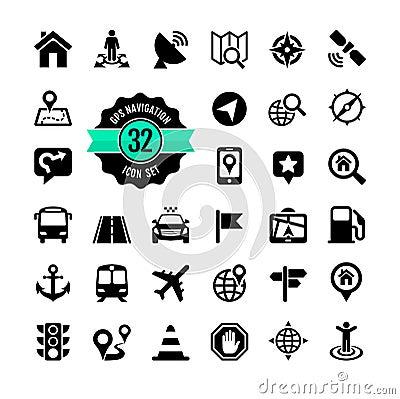 Free Web Icon Set. Location Stock Photo - 35497970