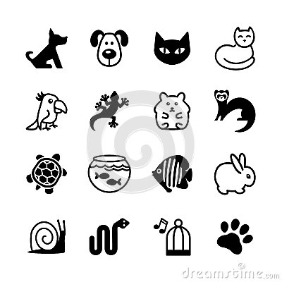 Free Web Icon Set. Pet Shop, Types Of Pets. Stock Images - 33782754