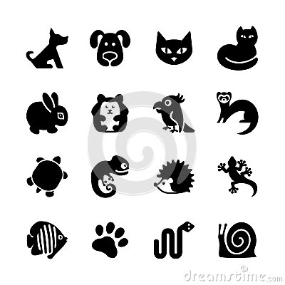 Free Web Icon Set. Pet Shop, Types Of Pets. Royalty Free Stock Image - 33782916
