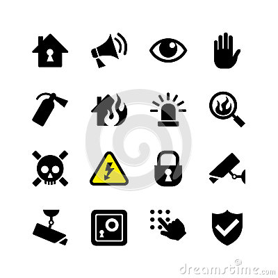 Free Web Icon Set Security And Surveillance Royalty Free Stock Photo - 34869845