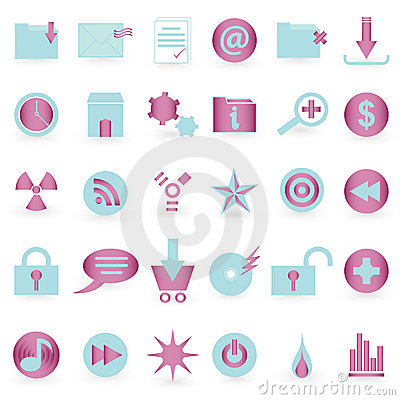WEB icon and symbol  Vector set Editorial Photography