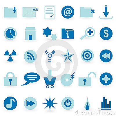 WEB icon and symbol  Vector set Editorial Stock Image
