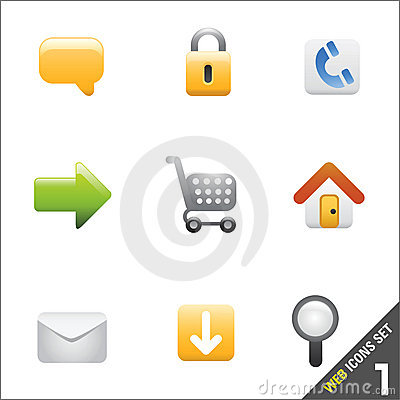 Free Web Icon Vector 1 Stock Photography - 4632272