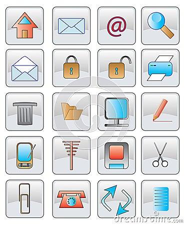 The web icon. vector image.