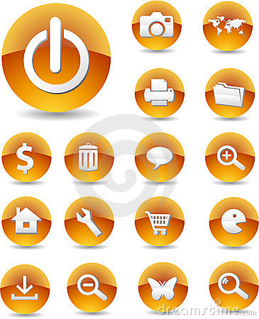 Free Web Icons 01 Royalty Free Stock Photo - 3130505