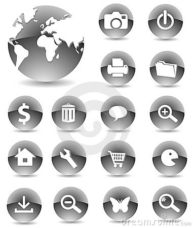 Web Icons 01 black