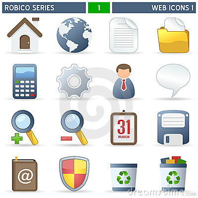 Free Web Icons [1] - Robico Series Stock Photography - 13305412