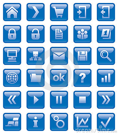 Free Web Icons Royalty Free Stock Photography - 10400727