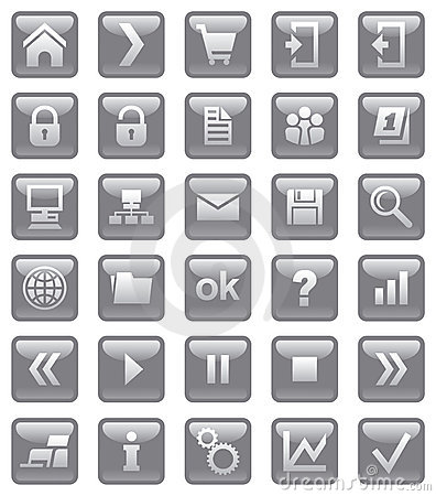 Free Web Icons. Stock Photo - 10400740