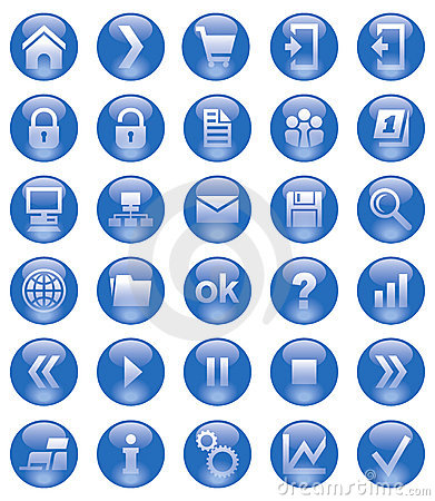 Free Web Icons Royalty Free Stock Image - 17252316