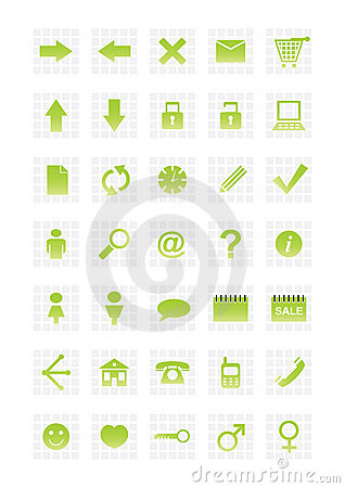 Free Web Icons Royalty Free Stock Images - 4369789