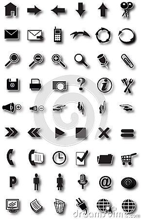 Free Web Icons Royalty Free Stock Photo - 5002685