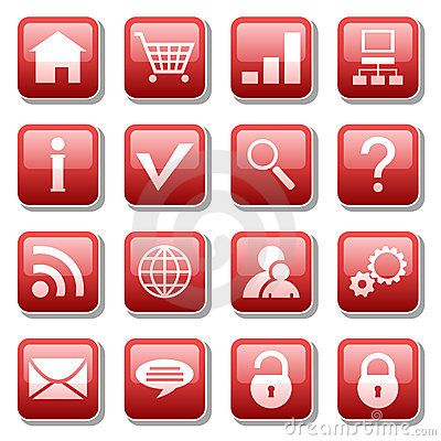 Web icons Editorial Stock Image