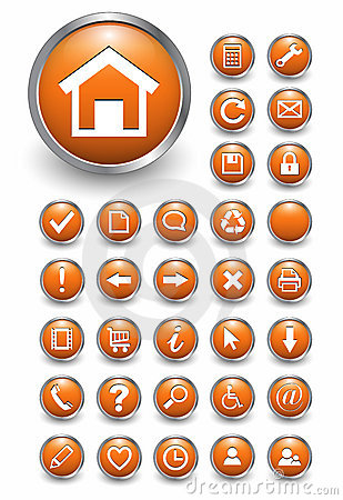 Free Web Icons, Buttons Stock Image - 12473861
