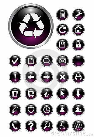 Free Web Icons, Buttons Stock Image - 12473941