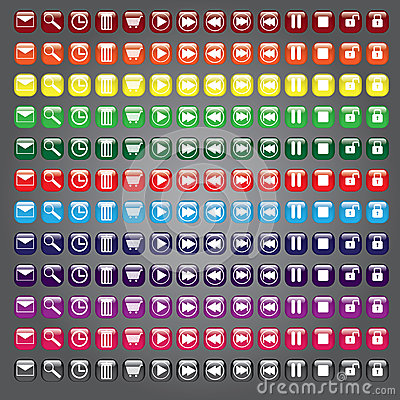 Web icons buttons collection