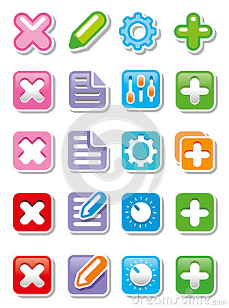 Web icons or buttons