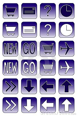 Web icons: dark blue 2